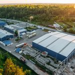 5084366 Aerial view of warehouse storages or industrial factory